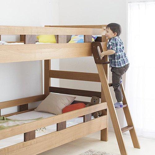 2段ベッドがシングル2台・ワイドキングにもなる!木製マルチベッド【SVN】 【2】