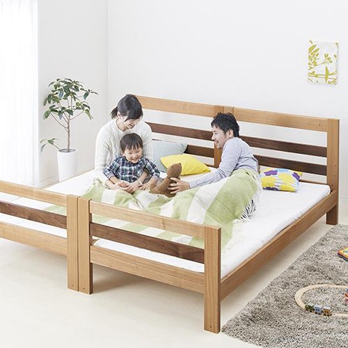 2段ベッドがシングル2台・ワイドキングにもなる!木製マルチベッド【SVN】 【6】