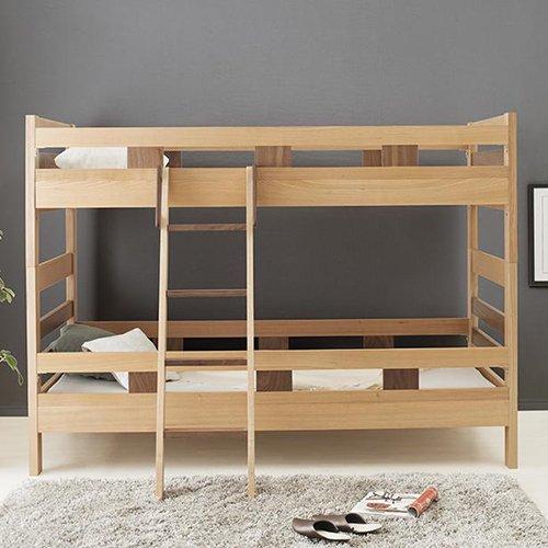 2段ベッドがシングル2台・ワイドキングにもなる!木製マルチベッド【SVN】 【8】