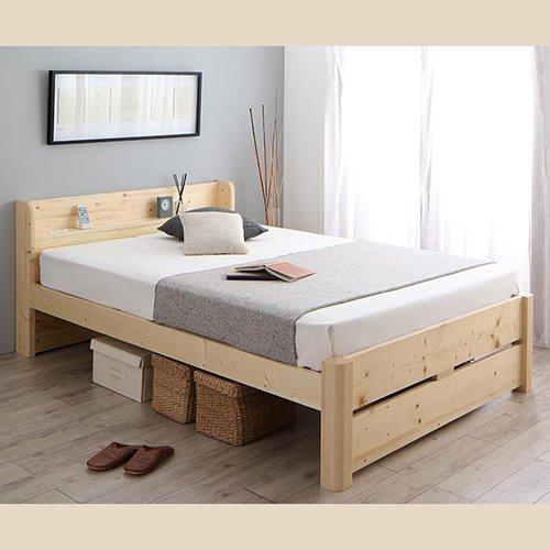 床面の高さ調節が可能!オール天然木すのこベッド【ISR】 【3】