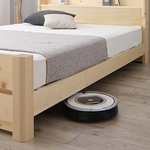 床面の高さ調節が可能!オール天然木すのこベッド【ISR】 【4】