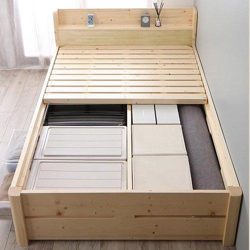床面の高さ調節が可能!オール天然木すのこベッド【ISR】 【5】