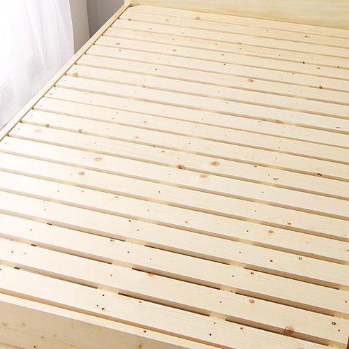床面の高さ調節が可能!オール天然木すのこベッド【ISR】 【6】