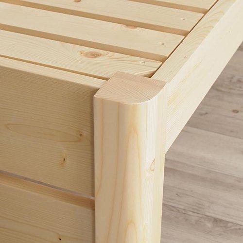 床面の高さ調節が可能!オール天然木すのこベッド【ISR】 【7】