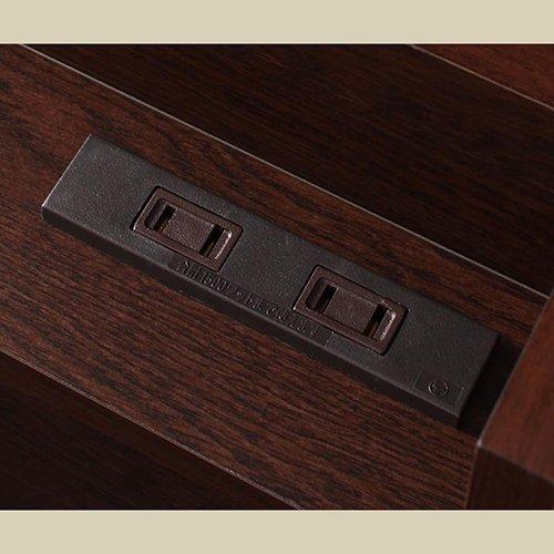 日本製・安心の品質!大容量収納チェストベッド【STE】(ヘッドボード付き) 【12】