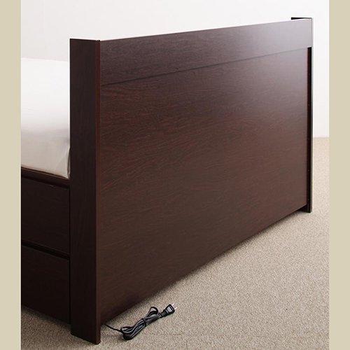 日本製・安心の品質!大容量収納チェストベッド【STE】(ヘッドボード付き) 【13】
