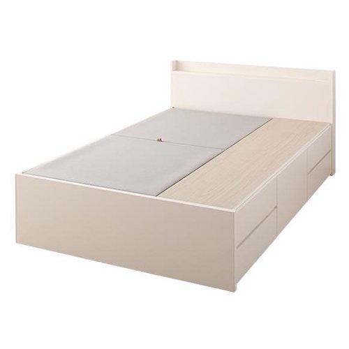 日本製・安心の品質!大容量収納チェストベッド【STE】(ヘッドボード付き) 【16】