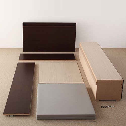 日本製・安心の品質!大容量収納チェストベッド【STE】(ヘッドボード付き) 【20】