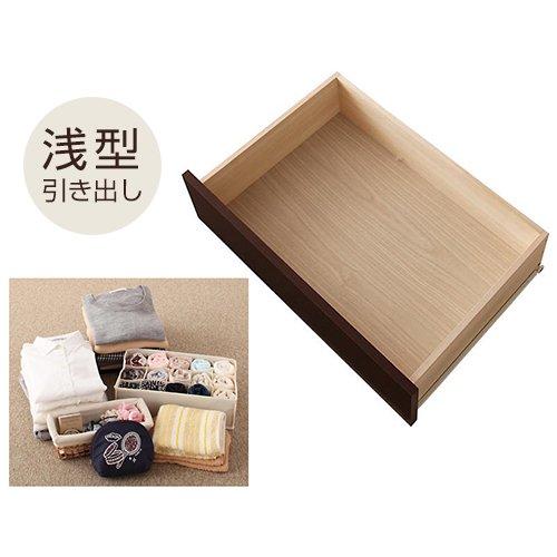 日本製・安心の品質!大容量収納チェストベッド【STE】(ヘッドボード付き) 【3】
