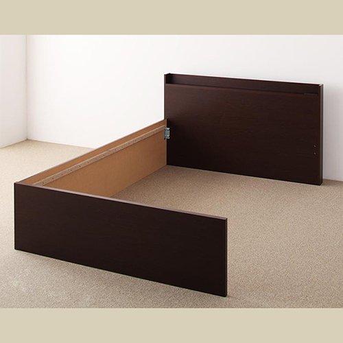 日本製・安心の品質!大容量収納チェストベッド【STE】(ヘッドボード付き) 【22】
