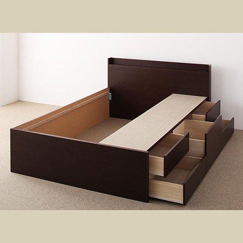 日本製・安心の品質!大容量収納チェストベッド【STE】(ヘッドボード付き) 【23】