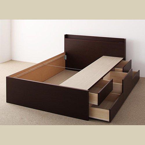 日本製・安心の品質!大容量収納チェストベッド【STE】(ヘッドボード付き) 【24】