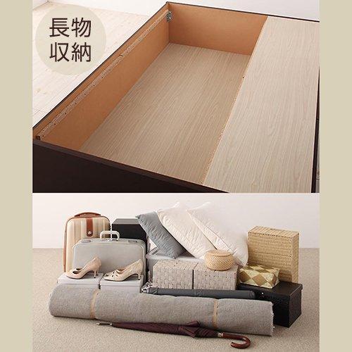 日本製・安心の品質!大容量収納チェストベッド【STE】(ヘッドボード付き) 【5】