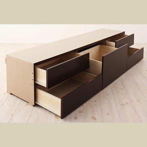 日本製・安心の品質!大容量収納チェストベッド【STE】(ヘッドボード付き) 【6】