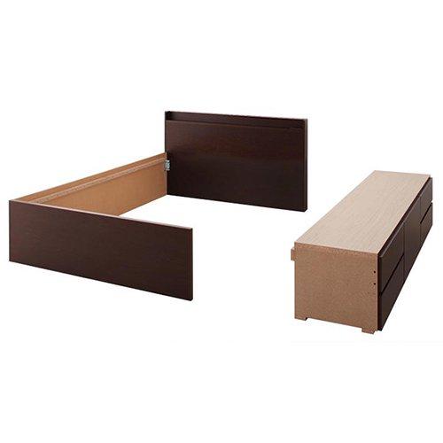 日本製・安心の品質!大容量収納チェストベッド【STE】(ヘッドボード付き) 【7】