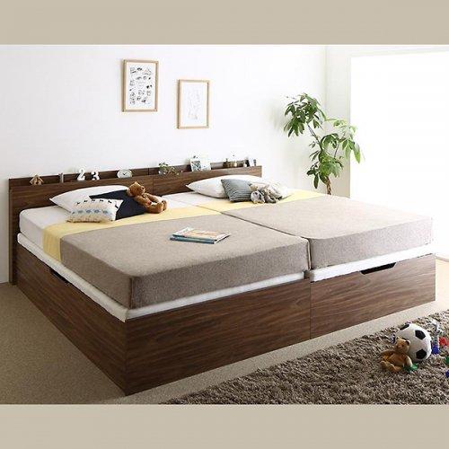 通気性のある床板!跳ね上げ式大容量収納ベッド【NKL】 【2】
