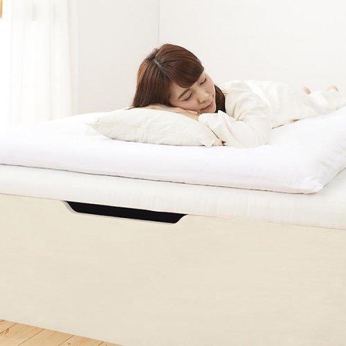 通気性のある床板!跳ね上げ式大容量収納ベッド【NKL】 【13】