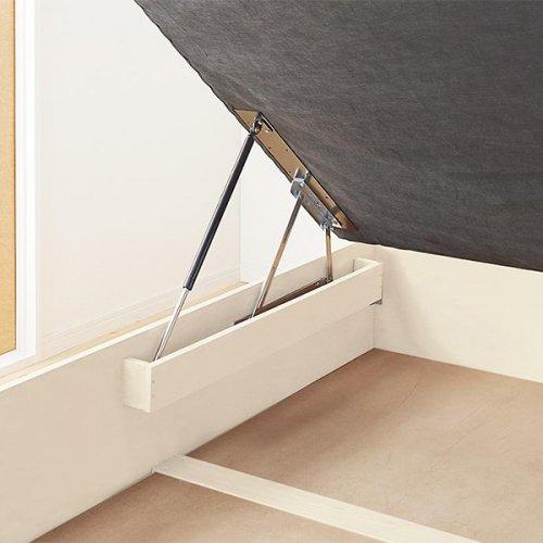 通気性のある床板!跳ね上げ式大容量収納ベッド【NKL】 【17】