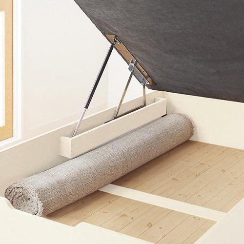 通気性のある床板!跳ね上げ式大容量収納ベッド【NKL】 【18】