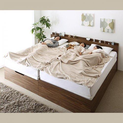 通気性のある床板!跳ね上げ式大容量収納ベッド【NKL】 【3】