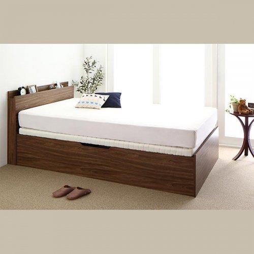 通気性のある床板!跳ね上げ式大容量収納ベッド【NKL】 【23】