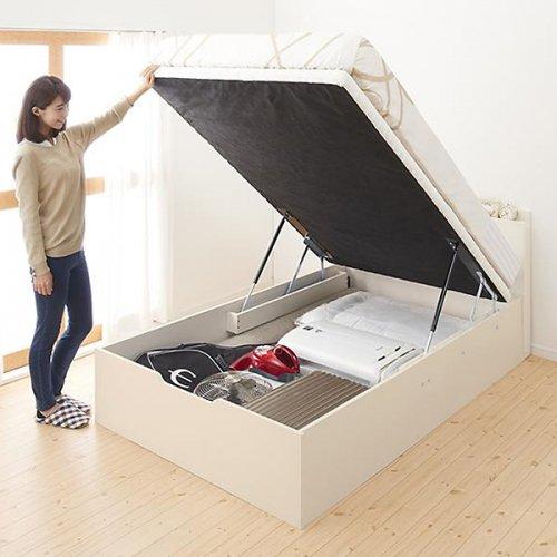 通気性のある床板!跳ね上げ式大容量収納ベッド【NKL】 【5】