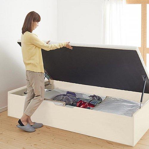 通気性のある床板!跳ね上げ式大容量収納ベッド【NKL】 【8】