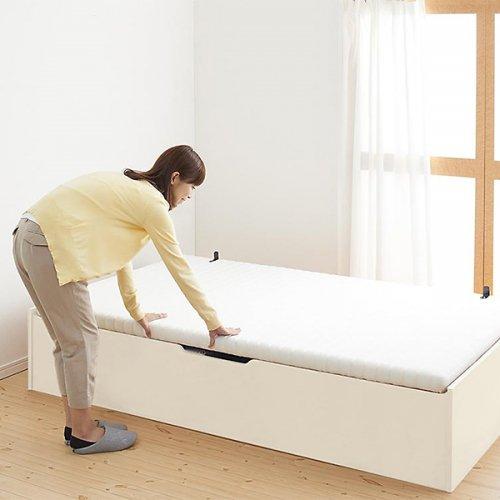 通気性のある床板!跳ね上げ式大容量収納ベッド【NKL】 【9】