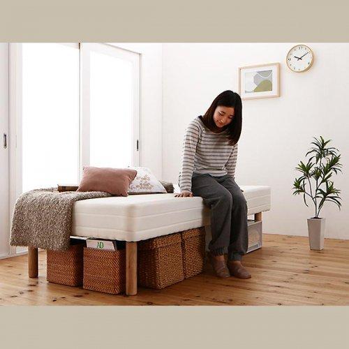 ショートサイズ2分割マットレスベッド(ポケットコイルマットレス) 【9】