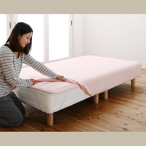 日本製・安心の品質!ショートサイズ2分割マットレスベッド(国産ポケットコイルマットレス) 【17】