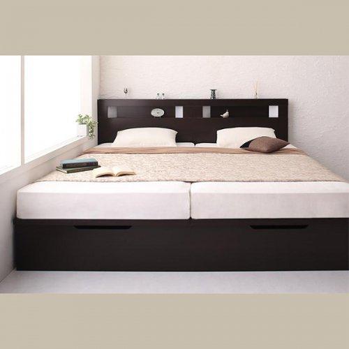 ワイドサイズ跳ね上げ式大容量収納ベッド【NTL】 【2】