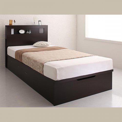 ワイドサイズ跳ね上げ式大容量収納ベッド【NTL】 【4】