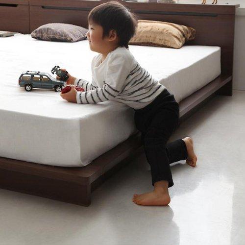 ライト・コンセント付き!家族で寝られるファミリーローベッド【CRC】 【7】