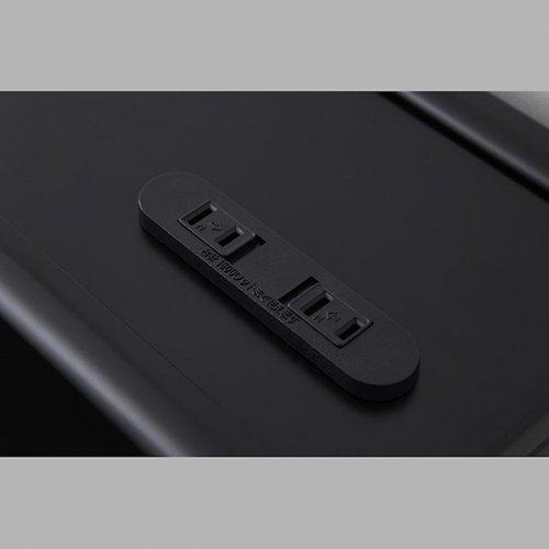 オールブラックモダンデザイン収納ベッド【ECB】 【11】