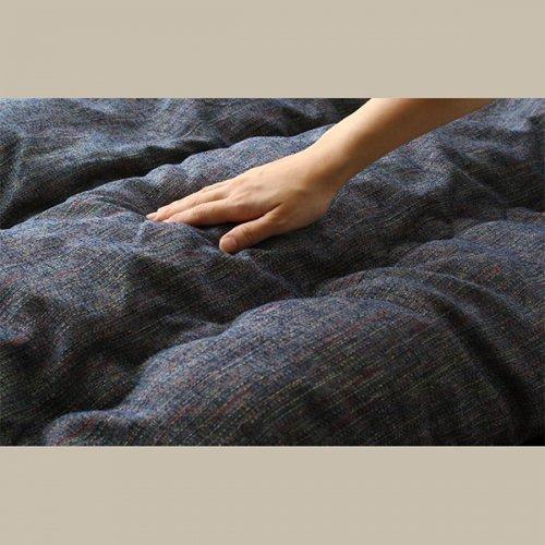 高級・多色織りジャガード生地使用!安心の国産こたつ布団【JMK】掛布団&敷布団2点セット 【11】