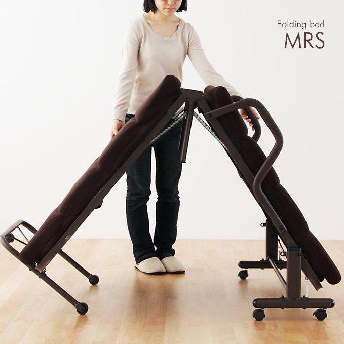新感覚の体圧分散マットレス!リクライニング機構付き折りたたみベッド【MRS】