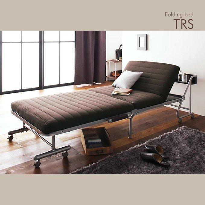 宮棚付き折りたたみベッド【TRS】(リクライニング機構付き)