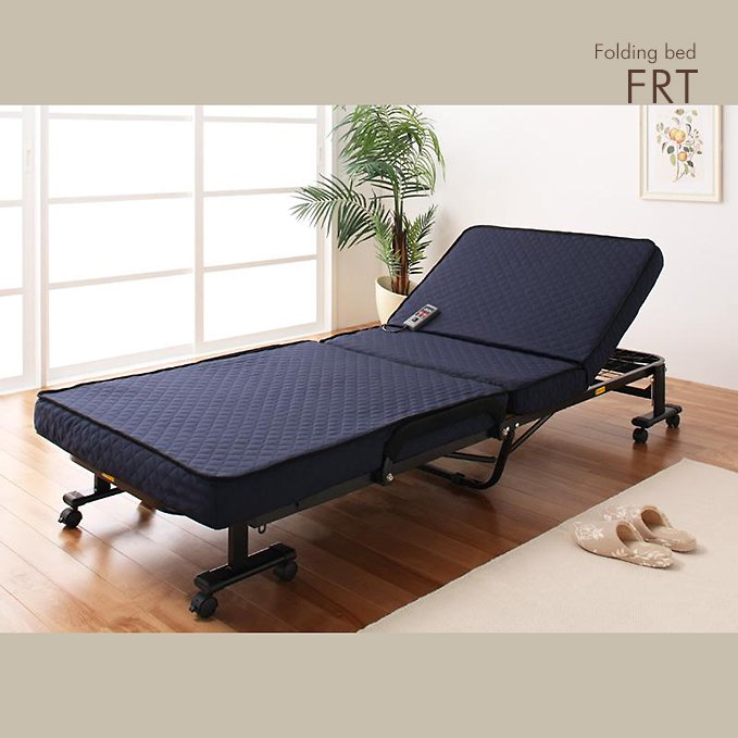 電動リクライニング!折りたたみベッド【FRT】(低反発ウレタン仕様
