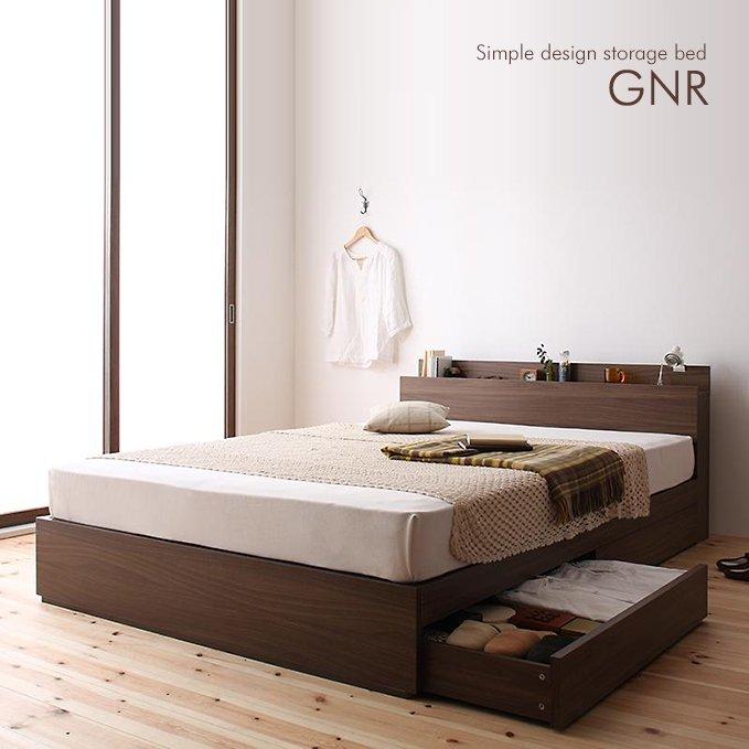プリント化粧繊維板のベッド