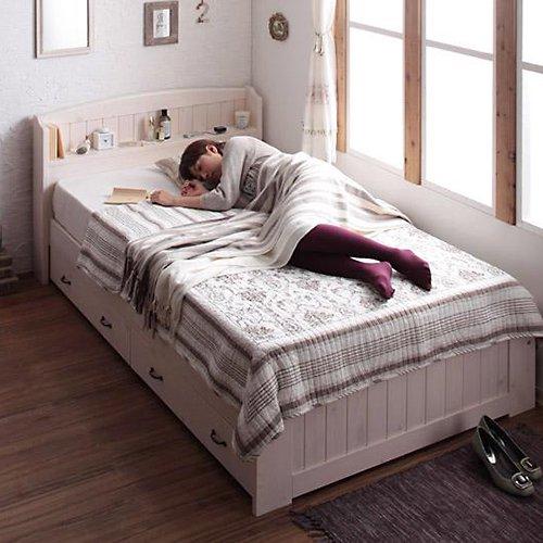 かわいいショートサイズ!フレンチカントリー調収納ベッド【REN】 【2】