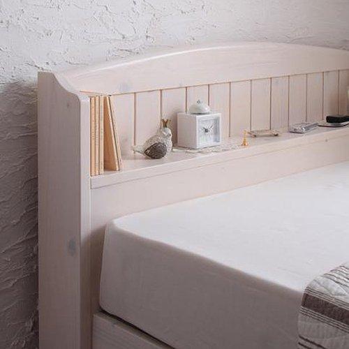 かわいいショートサイズ!フレンチカントリー調収納ベッド【REN】 【3】