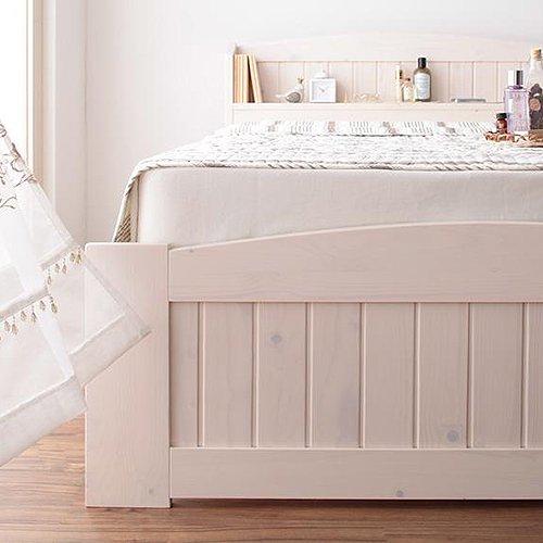 かわいいショートサイズ!フレンチカントリー調収納ベッド【REN】 【4】