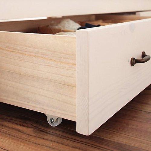 かわいいショートサイズ!フレンチカントリー調収納ベッド【REN】 【6】