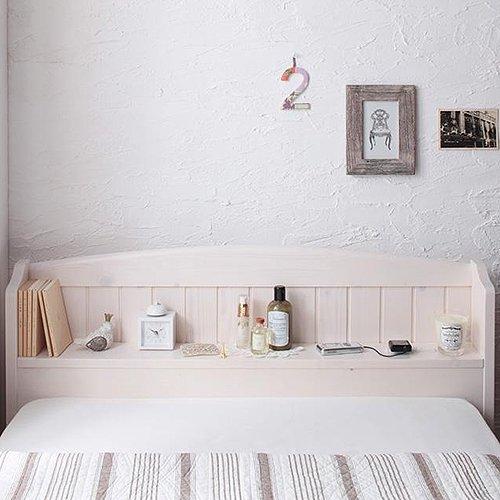 かわいいショートサイズ!フレンチカントリー調収納ベッド【REN】 【8】