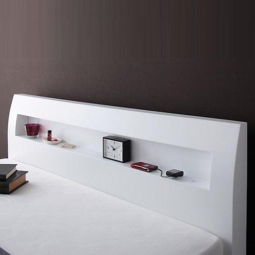 シンプル&スタイリッシュ!モダンデザインすのこベッド【ALM】 【4】