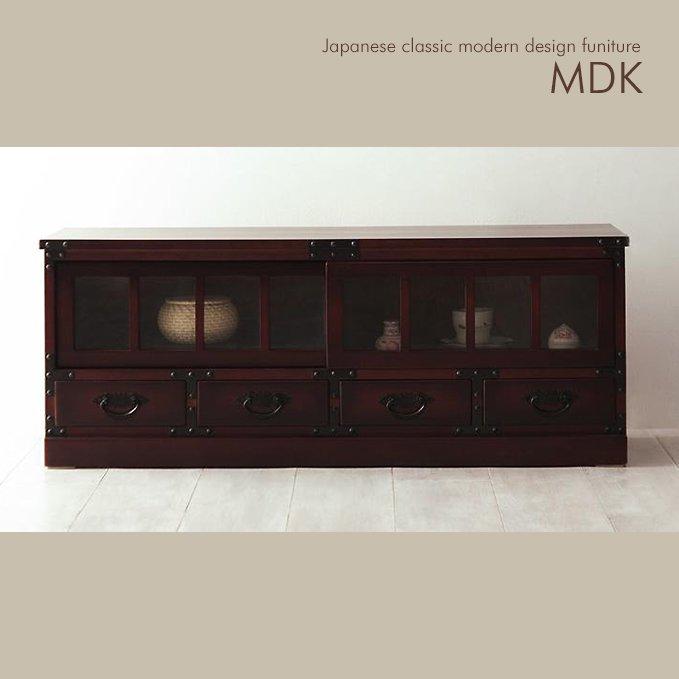 民芸調デザイン家具ローボード