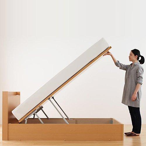 日本製・安心の品質!跳ね上げ式大容量収納ベッド【FRD】(縦開き) 【2】