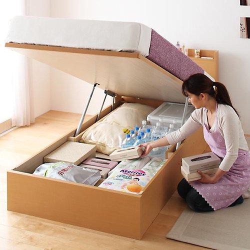 日本製・安心の品質!跳ね上げ式大容量収納ベッド【FRD】(縦開き) 【3】