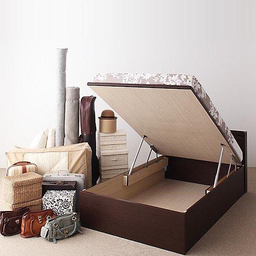 日本製・安心の品質!跳ね上げ式大容量収納ベッド【FRD】(縦開き) 【5】