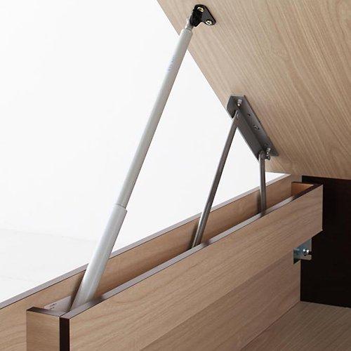 日本製・安心の品質!跳ね上げ式大容量収納ベッド【FRD】(縦開き) 【9】